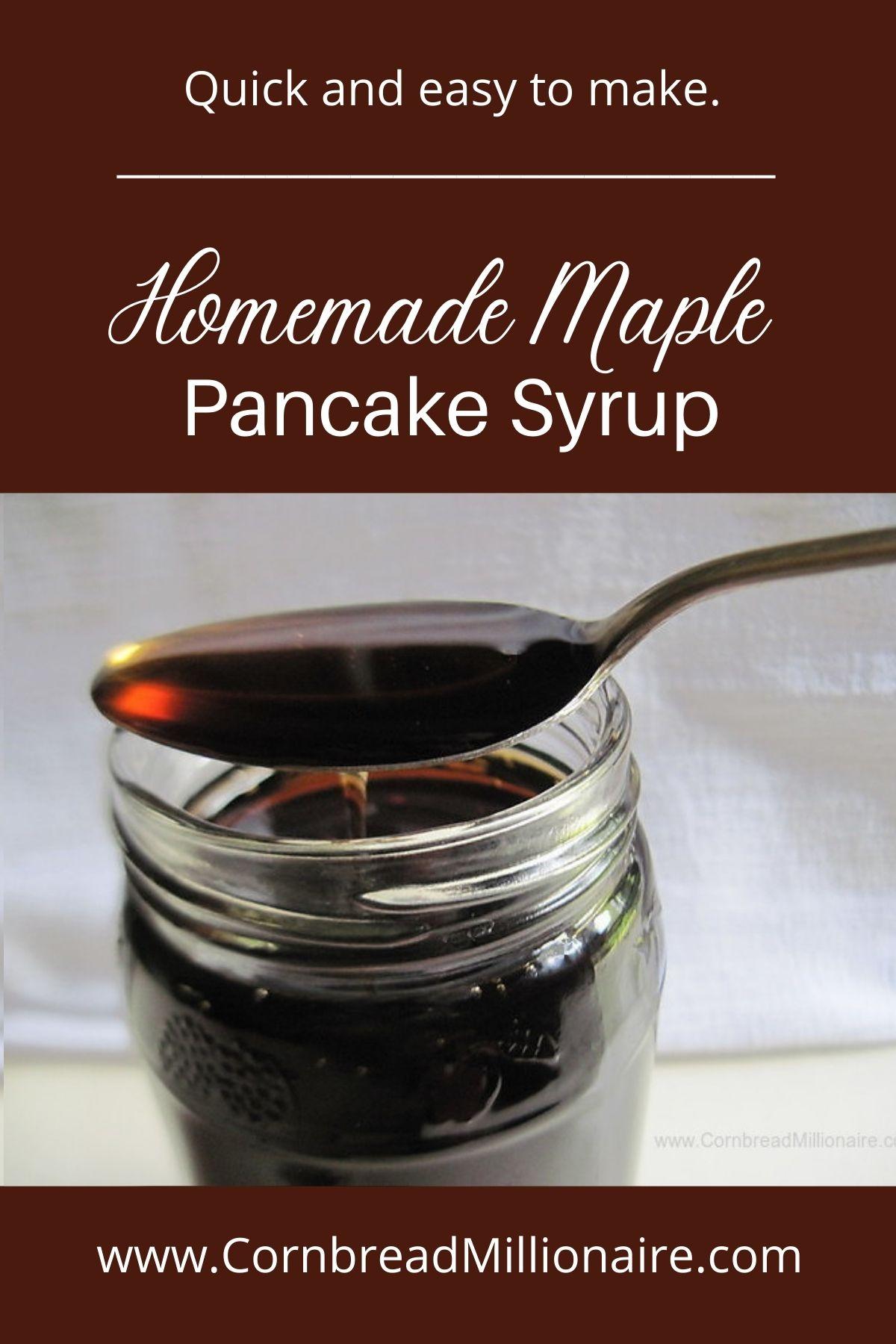 Homemade Maple Pancake Syrup