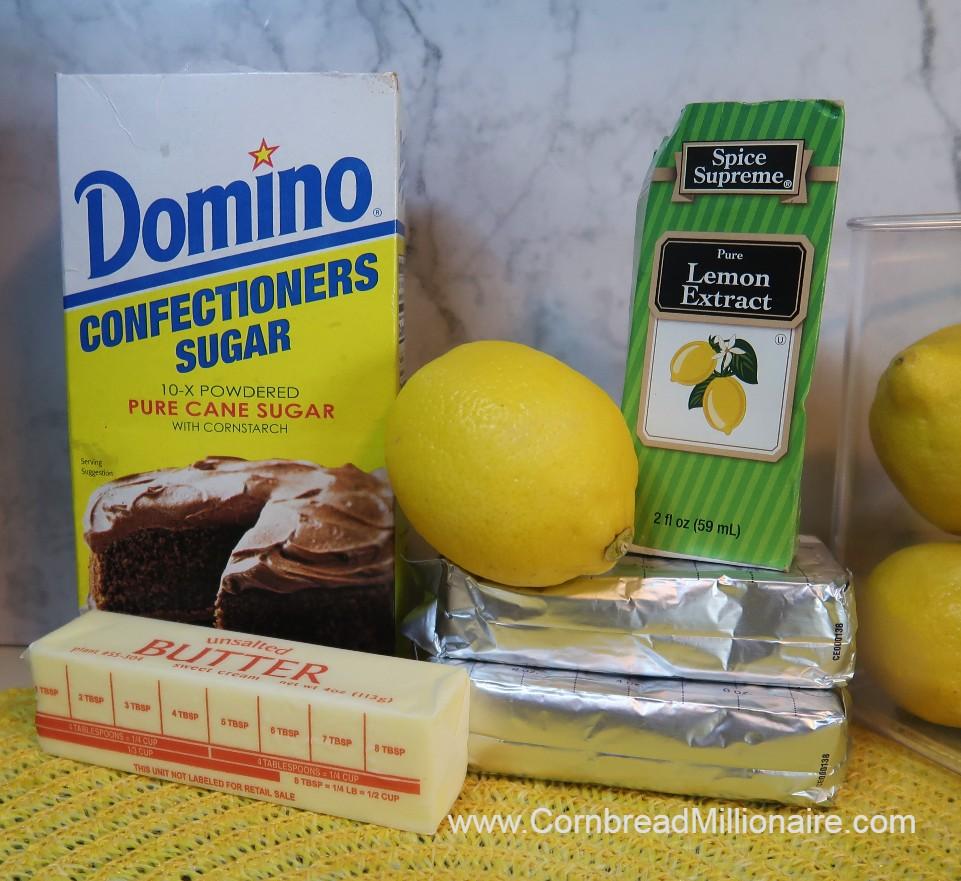 Lemon Cream Cheese Frosting Ingredients