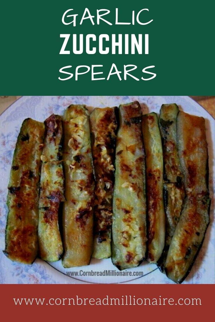 Garlic Zucchini Spears