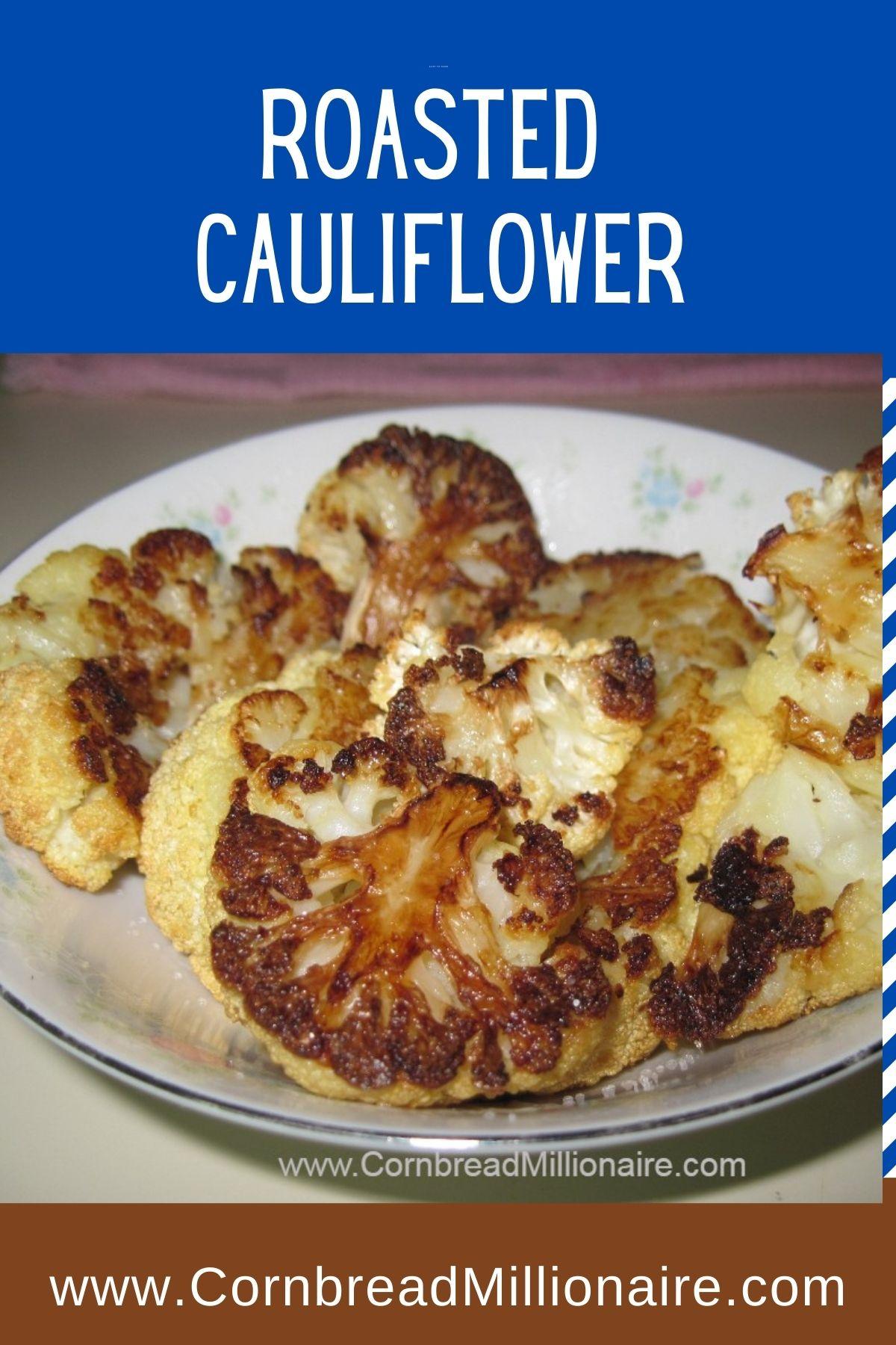 Roasted Cauliflower Pinterest