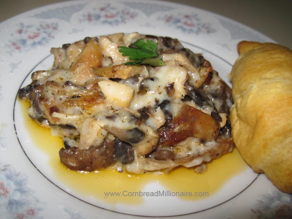 Creamy Alfredo Mushroom Chicken
