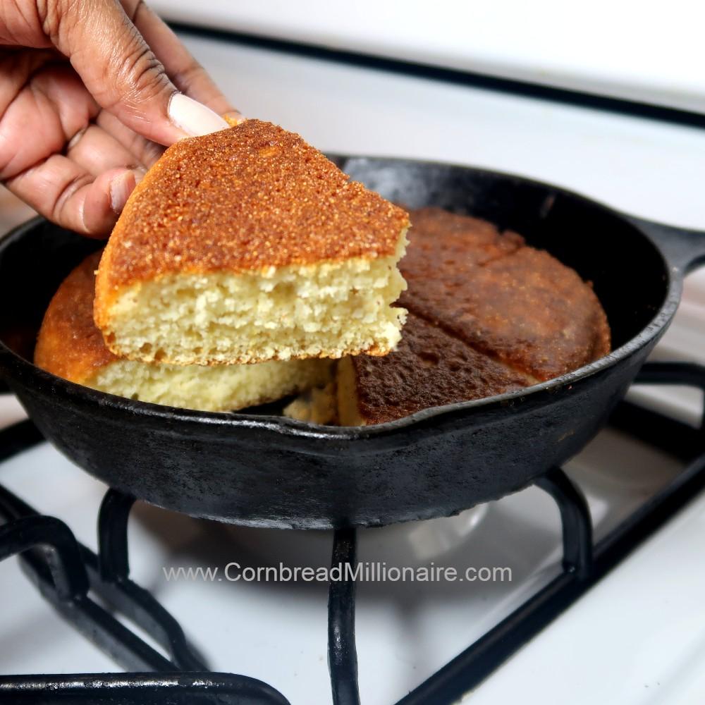 Homemade Self-Rising Crusty Cornbread