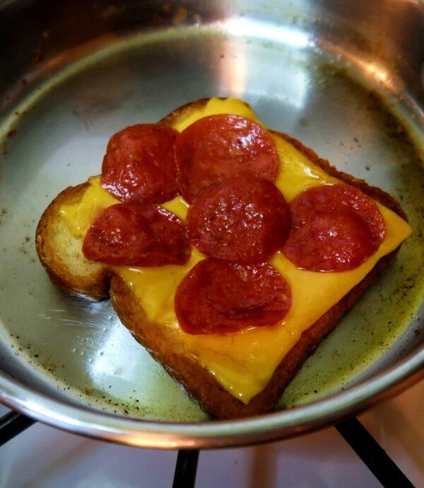 Pepperoni Pizza Toast