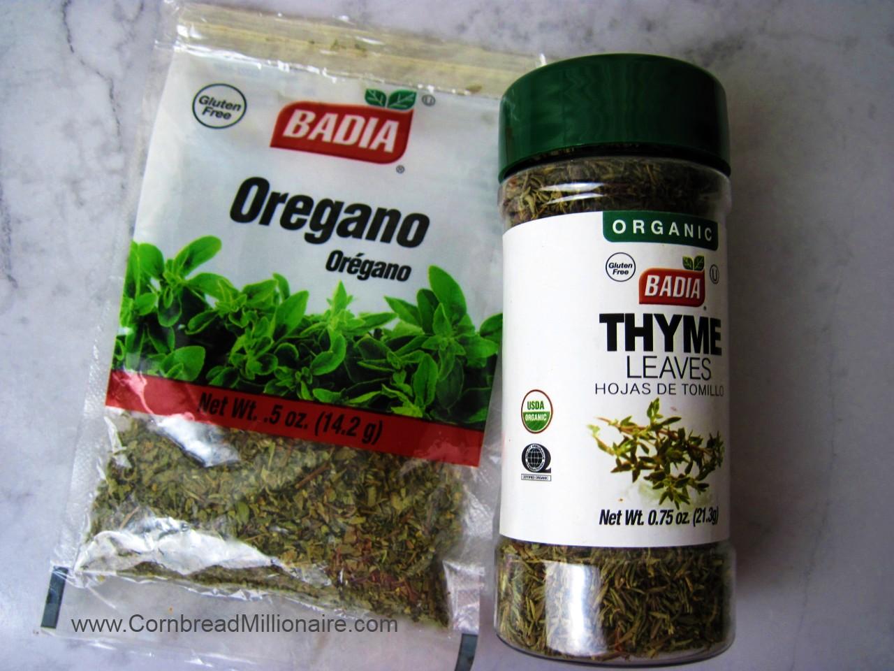 Oregano and Thyme