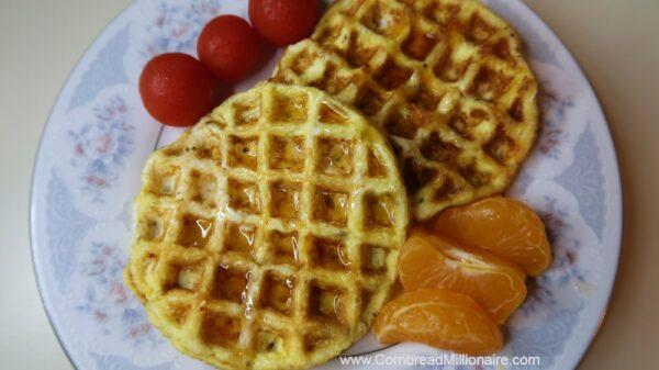 Homemade Mini Egg Waffles