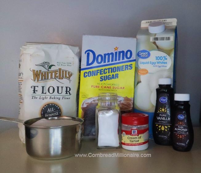 Homemade Angel Food Cake Ingredients