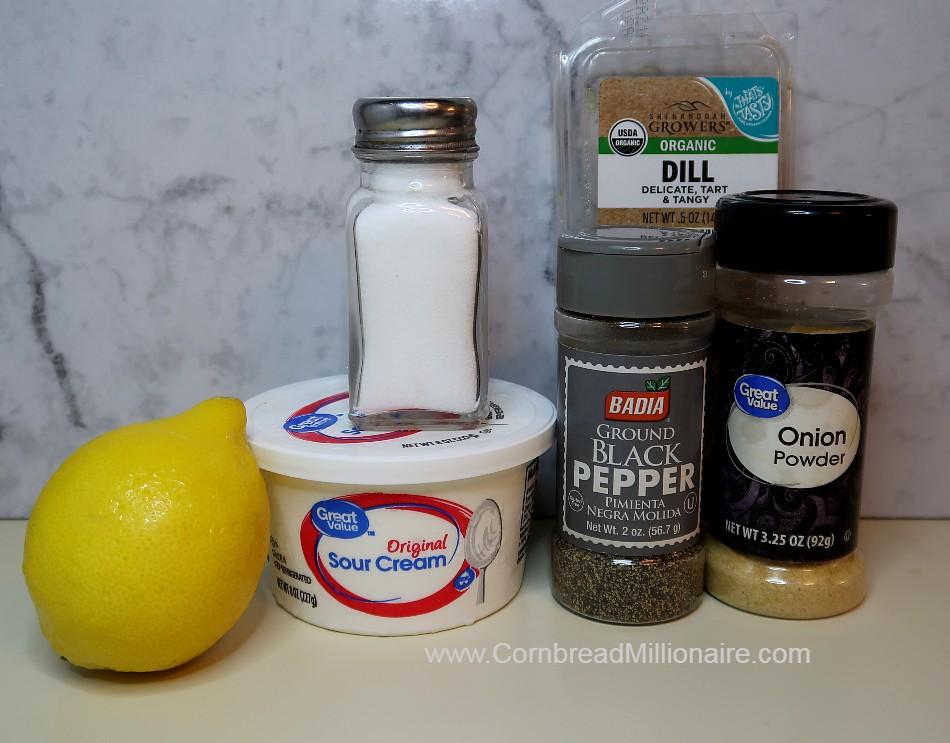 Creamy Cucumber Salad Ingredients